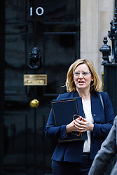 © Licensed to London News Pictures. 10/01/2017. London, UK. Home Secretary AMBER RUDD attends a cabinet meeting in Downing Street on Tuesday, 10 January 2017. Photo credit: Tolga Akmen/LNP