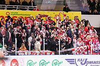 2020-01-17 | Umeå, Sweden:Timrå IK supporters in  HockeyAllsvenskan during the game  between Björklöven and Timrå at A3 Arena ( Photo by: Michael Lundström | Swe Press Photo )<br /> <br /> Keywords: Umeå, Hockey, HockeyAllsvenskan, A3 Arena, Björklöven, Timrå, mlbt200117