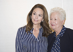 May 11, 2017 - Hollywood, California, U.S. - DIANE LANE and Director ELEANOR COPPOLA promotes 'Paris Can Wait.' Diane Lane (born January 22, 1965) is an American actress. Born and raised in New York City, Lane made her screen debut in the 1979 film A Little Romance. Soon after, she was featured on the cover of Time magazine. She has since appeared in several notable films, including the 2002 film Unfaithful, which earned her Satellite, New York Film Critics Circle, and National Society of Film Critics awards for Best Actress in a Motion Picture (Drama). Her performance in Unfaithful also garnered her Academy Award, Golden Globe, and Screen Actors Guild Award nominations for Best Actress. Lane has starred in The Outsiders, A Walk on the Moon, The Perfect Storm, Under the Tuscan Sun, Cinema Verite, and Trumbo. She played Martha Kent in Man of Steel and Batman v Superman: Dawn of Justice, and will reprise the role in the upcoming Justice League film. Felt (2017), Untitled Reed Morano. (Credit Image: © Armando Gallo via ZUMA Studio)