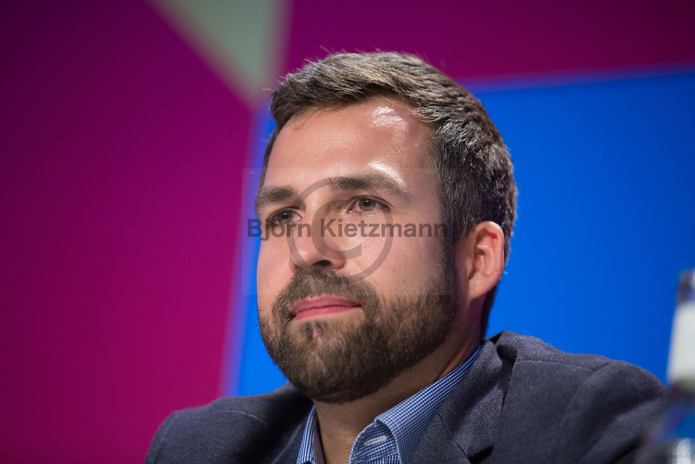 Berlin, Germany - 08.05.2017<br /> <br /> Marvin Lange, CEO Maxdome Germany at the Media Convention Berlin. The Media Convention takes place at the same time and place of the re:publica.  Frist day of the three days long re:publica 17 conference in Berlin<br /> <br /> Marvin Lange, Geschaeftsfuehrer Maxdome Germany auf der Media Convention Berlin. Die Media Convention findet zeit und ortsgleich zur re:publica statt. Erster Tag der drei-taegigen re:publica 17 conference in Berlin.<br />  <br /> Photo: Bjoern Kietzmann