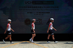 Lotto Soudal Ladies make their way from sign on at Tour of Chongming Island 2019 - Stage 3, a 118.4 km road race on Chongming Island, China on May 11, 2019. Photo by Sean Robinson/velofocus.com