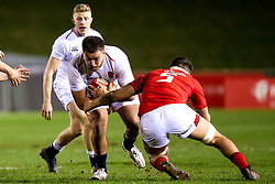 Alfie Petch of England U20 is tackled by Teddy Williams of Wales U20 - Mandatory by-line: Robbie Stephenson/JMP - 22/02/2019 - RUGBY - Zip World Stadium - Colwyn Bay, Wales - Wales U20 v England U20 - Under-20 Six Nations