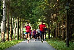 Practice and preparation for Triglav tek, running event, 22nd of August, 2017,  Park Brdo pri Kranju, Kranj, Slovenia. Photo by Grega Valancic/ Sportida