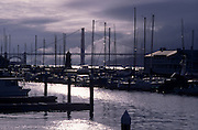 View of docks with the Golden Gate Bridge in the background, San Francisco, California. ..Subject photograph(s) are copyright Edward McCain. All rights are reserved except those specifically granted by Edward McCain in writing prior to publication...McCain Photography.211 S 4th Avenue.Tucson, AZ 85701-2103.(520) 623-1998.mobile: (520) 990-0999.fax: (520) 623-1190.http://www.mccainphoto.com.edward@mccainphoto.com.