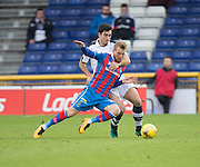Dundee&rsquo;s Julen Etxabeguren gets to grips with Inverness' Henri Anier - Inverness Caledonian Thistle v Dundee in the Ladbrokes Scottish Premiership at Caledonian Stadium, Inverness.Photo: David Young<br /> <br />  - &copy; David Young - www.davidyoungphoto.co.uk - email: davidyoungphoto@gmail.com