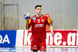 05.01.2018, BSZF Suedstadt, Maria Enzersdorf, AUT, Handball Testspiel, Österreich vs Tschechien, im Bild Alexander Hermann (AUT) // during a men' s international friendly handball match between Austria and Czech Republic at the BSZF Suedstadt, Maria Enzersdorf, Austria on 2018/01/05, EXPA Pictures © 2017, PhotoCredit: EXPA/ Sebastian Pucher