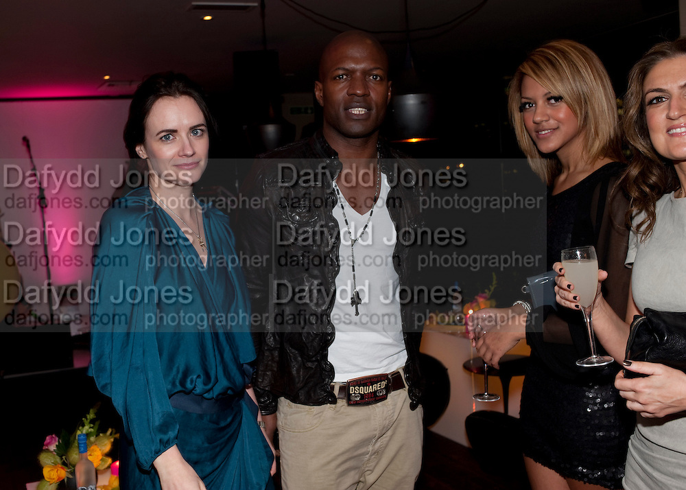 EILIDH MACASKILL; ; KEVIN ADAMS, InStyle's Best Of British Talent Party in association with Lancome. Shoreditch HouseLondon. 25 January 2011, -DO NOT ARCHIVE-© Copyright Photograph by Dafydd Jones. 248 Clapham Rd. London SW9 0PZ. Tel 0207 820 0771. www.dafjones.com.