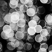 black and white light circles