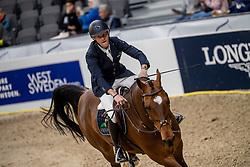 Bruynseels Niels, BEL, Delux van T&L<br /> Göteborg - Gothenburg Horse Show 2019 <br /> Longines FEI World Cup™ Final I<br /> Int. jumping competition - speed and handiness<br /> Longines FEI Jumping World Cup™ Final and FEI Dressage World Cup™ Final<br /> 04. April 2019<br /> © www.sportfotos-lafrentz.de/Dirk Caremans
