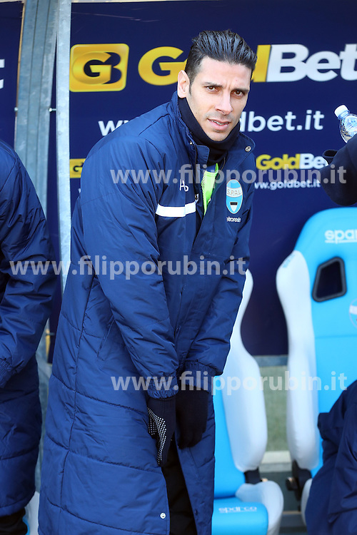 """Foto Filippo Rubin<br /> 21/01/2017 Ferrara (Italia)<br /> Sport Calcio<br /> Spal vs Benevento - Campionato di calcio Serie B ConTe.it 2016/2017 - Stadio """"Paolo Mazza""""<br /> Nella foto: SERGIO FLOCCARI<br /> <br /> Photo Filippo Rubin<br /> January 21, 2017 Ferrara (Italy)<br /> Sport Soccer<br /> Spal vs Benevento - Italian Football Championship League B ConTe.it 2016/2017 - """"Paolo Mazza"""" Stadium <br /> In the pic: SERGIO FLOCCARI"""