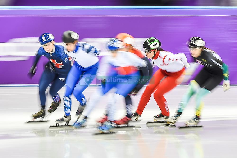 February 17, 2018 - Pyeongchang, Gangwon, South Korea - Cheyenne Goh of Singapore competing in 1500 meter speed skating for women at Gangneung Ice Arena, Gangneung, South Korea on 17 February 2018. (Credit Image: © Ulrik Pedersen/NurPhoto via ZUMA Press)