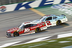 July 13, 2018 - Sparta, Kentucky, United States of America - Ryan Reed (16) and Matt Tifft (2) battle for position during the Alsco 300 at Kentucky Speedway in Sparta, Kentucky. (Credit Image: © Chris Owens Asp Inc/ASP via ZUMA Wire)
