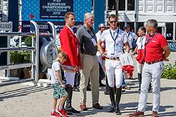 AHLMANN Christian (GER), RÜPING Dr. Michael (GER), DEUSSER Daniel (GER), BECKER Otto (Bundestrainer Springen)<br /> Rotterdam - Europameisterschaft Dressur, Springen und Para-Dressur 2019<br /> Parcoursbesichtigung<br /> Longines FEI Jumping European Championship part 2 - team 2nd and final round<br /> Finale Teamwertung 2. Runde<br /> 24. August 2019<br /> © www.sportfotos-lafrentz.de/Stefan Lafrentz