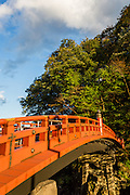 Shinkyo Bridge in Nikko marks the entrance to the main part of the village, where the temples are located.