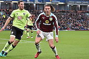 Burnley Midfielder, Jeff Hendrick (13) goal scorer during the Premier League match between Burnley and Bournemouth at Turf Moor, Burnley, England on 10 December 2016. Photo by Mark Pollitt.