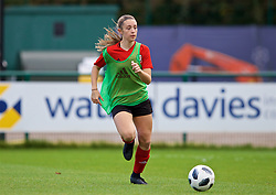 NEWPORT, WALES - Tuesday, November 6, 2018: Wales' Caitlin Bevan during a training session at Dragon Park ahead of two games against Portugal. (Pic by Paul Greenwood/Propaganda)