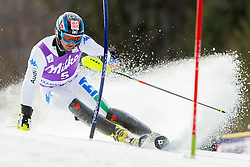 DEVILLE Cristianof Italy competes during 1st Run of Men's Slalom - Pokal Vitranc 2012 of FIS Alpine Ski World Cup 2011/2012, on March 11, 2012 in Vitranc, Kranjska Gora, Slovenia.  (Photo By Vid Ponikvar / Sportida.com)