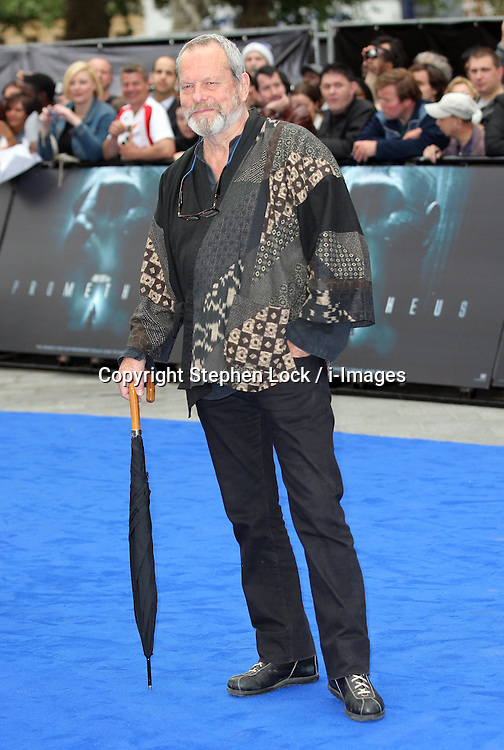 Terry Gilliam arriving for the premiere of  Prometheus, in London on Thursday, 31st May 2012.  Photo by: Stephen Lock / i-Images
