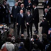 Silvio Berlusconi incontra il sindaco di Roma al Campidoglio per discutere le richieste della citta' di Roma rivolte alla politica nazionale. Roma, 12 febbraio 2013. Christian Mantuano / OneShot