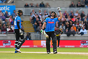 50 for Luke Wright of Sussex - Luke Wright of Sussex celebrates scoring a half century during the Vitality T20 Finals Day Semi Final 2018 match between Worcestershire Rapids and Lancashire Lightning at Edgbaston, Birmingham, United Kingdom on 15 September 2018.