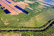 Nederland, Noord-Brabant, Gemeente Deurne, 27-05-2013; Het Kanaal van Deurne door bomen omzoomd doorkruist de Deurnsche Peel, tussen Griendtsveen en Helenaveen.<br /> Remainders of (reclaimed) peatland and bog, known as the Peel.<br /> luchtfoto (toeslag op standard tarieven);<br /> aerial photo (additional fee required);<br /> copyright foto/photo Siebe Swart.