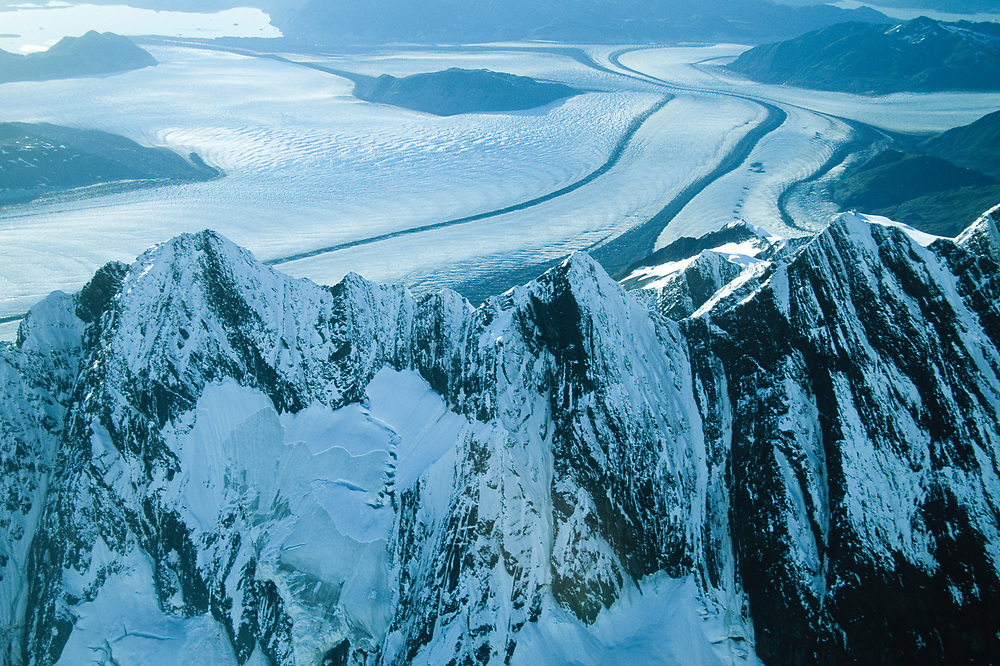 Glacier Bay National Park. Aerial. Alaska.