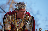 New Orleans, Louisiana, February 19, Will Ferrell, King of the Bacchus Parade for 2012 Mardi Gras rides on the lead float of the parade.