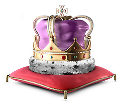 A King's crown isolated on white
