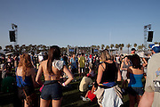 Fans on the grounds at the 2010 Coachella Music Festival in Indio, CA on April 16, 2010.