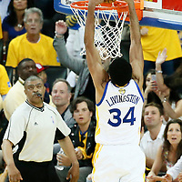 04 June 2017: Golden State Warriors guard Shaun Livingston (34) dunks the ball during the Golden State Warriors 132-113 victory over the Cleveland Cavaliers, in game 2 of the 2017 NBA Finals, at the Oracle Arena, Oakland, California, USA.