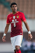 GUANGZHOU, CHINA - FEBRUARY 24:  Paulinho of Guangzhou Evergrande looks on during the Guangzhou Evergrande FC v Pohang Steelers match as part of the AFC Champions League 2016 at Guangzhou Tianhe Sport Center on February 24, 2016 in Guangzhou, China.  (Photo by Aitor Alcalde Colomer/Getty Images)