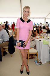 LAURA WHITMORE at the Boujis hospitality at the Audi International Polo at Guards Polo Windsor Great Park, Egham, Surrey on 28th July 2013.