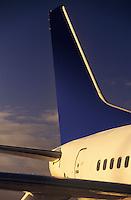 Passenger jet tailplane and rear fuselage
