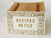 old antique kitchen recipes on file folder