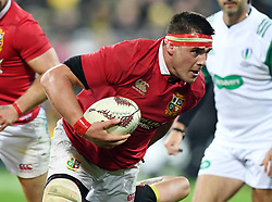 """CJ Stander of the Lions against the Hurricanes in the International rugby match between the the Super Rugby Hurricanes and British and Irish Lions at Westpac Stadium, Wellington, New Zealand, Tuesday, June 27, 2017. Credit:SNPA / Ross Setford  **NO ARCHIVING"""""""