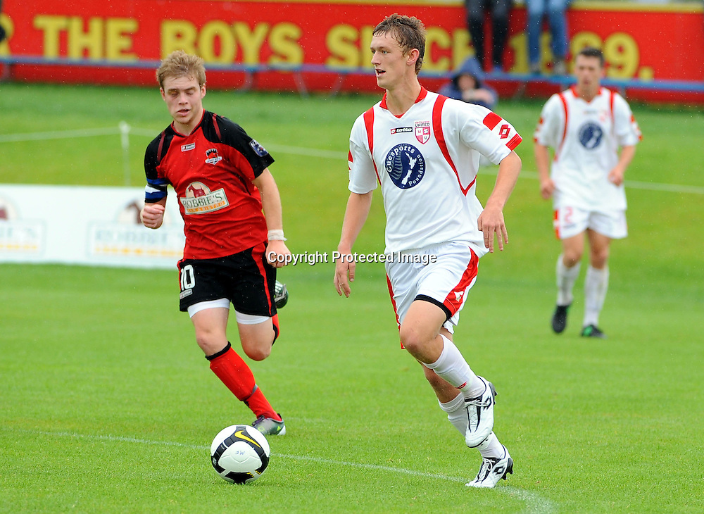 Waitakere`s Luke Adams during the ASB Youth League Final Canterbury United v Waitakere United at Linfield Park, Christchurch, New Zealand, Sunday 19 December 2010. Photo: Chris Symes www.photosport.co.nz