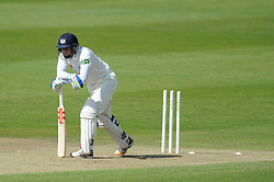 Geraint Jones of Gloucestershire is bowled out by Tom Bailey of Lancashire for 88 - Photo mandatory by-line: Dougie Allward/JMP - Mobile: 07966 386802 - 08/06/2015 - SPORT - Football - Bristol - County Ground - Gloucestershire Cricket v Lancashire Cricket Day 2 - LV= County Championship