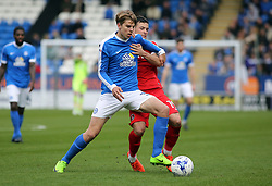 Martin Samuelsen of Peterborough United in action with Jake Forster-Caskey of Charlton Athletic - Mandatory by-line: Joe Dent/JMP - 01/04/2017 - FOOTBALL - ABAX Stadium - Peterborough, England - Peterborough United v Charlton Athletic - Sky Bet League One