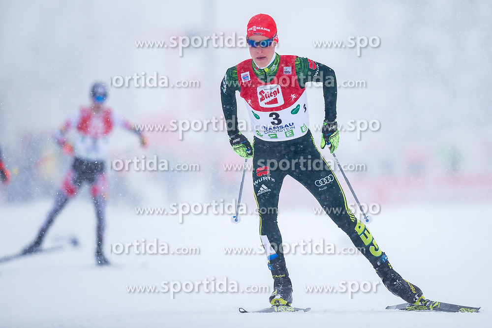 17.12.2017, Nordische Arena, Ramsau, AUT, FIS Weltcup Nordische Kombination, Langlauf, im Bild Luis Lehnert (GER) // Luis Lehnert of Germany during Cross Country Competition of FIS Nordic Combined World Cup, at the Nordic Arena in Ramsau, Austria on 2017/12/17. EXPA Pictures © 2017, PhotoCredit: EXPA/ Dominik Angerer
