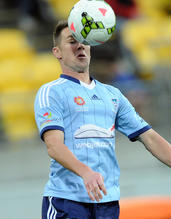 Sydney FC's Shane Smeltz against the Phoenix in the A-League football match at Westpac Stadium, Wellington, New Zealand, Sunday, April 26, 2015. Credit:SNPA / Ross Setford