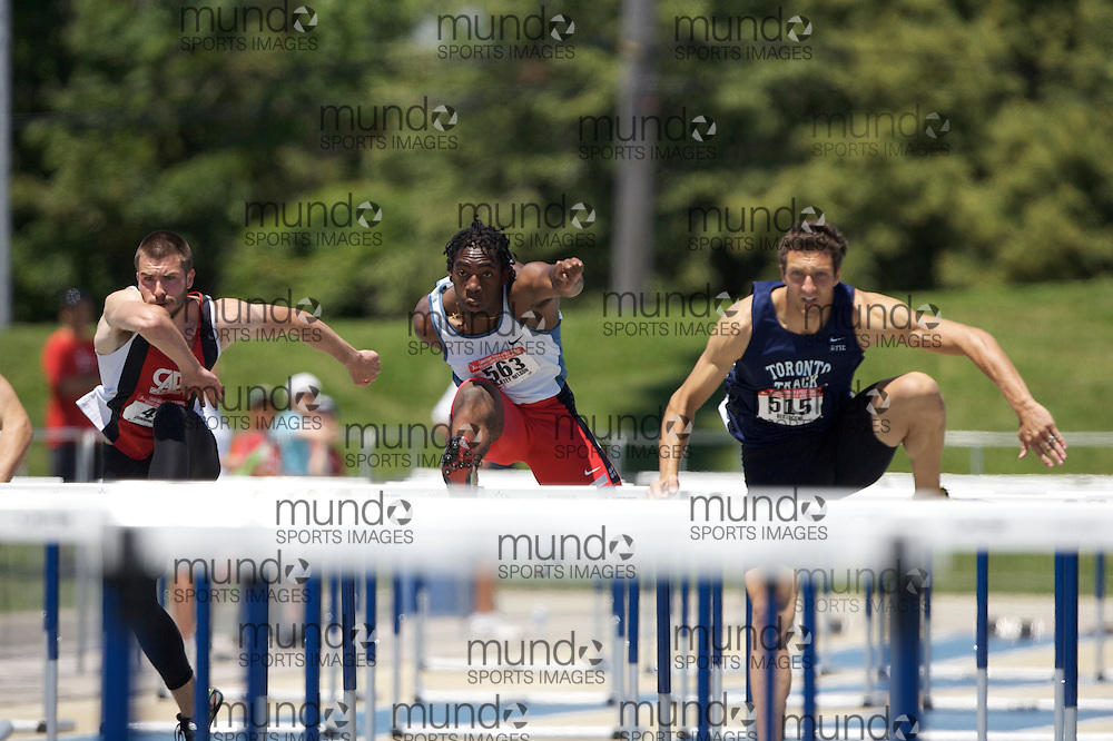 London, Ontario ---04/07/08--- Jamie Adjetey-Nelson competes at the 2008 Canadian Track and Field Championships in Windsor, Ontario.GEOFF ROBINS Mundo Sport Images