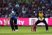 Moeen Ali of Worcestershire Rapids batting during the Vitality T20 Finals Day 2019 match between Worcestershire County Cricket Club and Essex County Cricket Club at Edgbaston, Birmingham, United Kingdom on 21 September 2019.