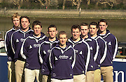 Boat Race Challenge..Oxford Blue boat crew. Cox Acer Nethercott, Colin Smith, Henry Morris, David Livingston, Peter Reed, Joel Scrogin, Andrew Stubbs, Basil Dixon and Christopher Kennelly<br /> [Mandatory Credit Peter Spurrier/ Intersport Images] Varsity: Boat race