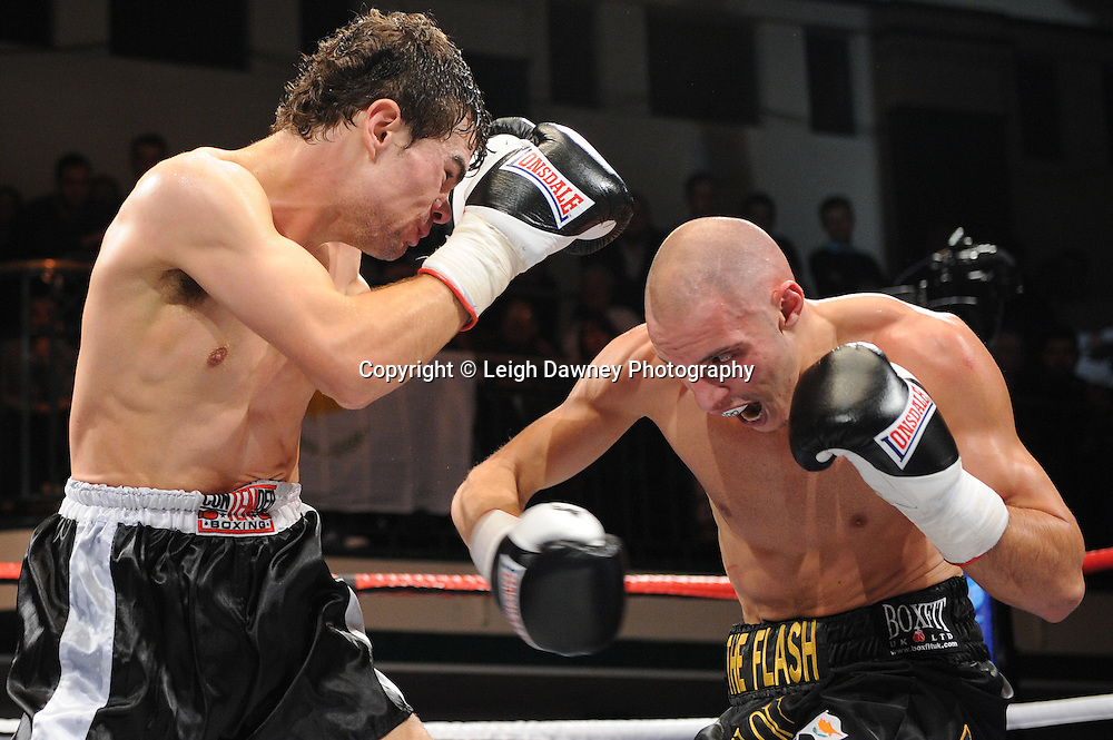 Chris Evangelou defeats Joel Ryan in a 6x3min Light Welterweight contest at York Hall 09.11.11. Matchroom Sport. Photo credit: © Leigh Dawney 2011.