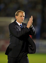 BRISTOL, ENGLAND - Tuesday, September 28, 2010: Bristol Rovers' manager Paul Trollope during the Football League One match against Tranmere Rovers at the Memorial Ground. (Photo by David Rawcliffe/Propaganda)