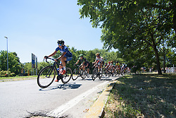 Winanda Spoor leads the peloton on Stage 4 of the Giro Rosa - a 118 km road race, starting and finishing in Occhiobello on July 3, 2017, in Rovigo, Italy. (Photo by Sean Robinson/Velofocus.com)