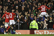 Picture by David Horn/Focus Images Ltd +44 7545 970036.29/12/2012.Jonathan de Guzman (right) of Swansea City celebrates scoring the team's second goal during the Barclays Premier League match at Craven Cottage, London.