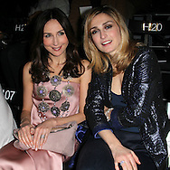 PARIS, FRANCE - JANUARY 24:  Elsa Zylberstein and Julie Gayet attends the Giorgio Armani Prive Haute-Couture 2012 show as part of Paris Fashion Week as part of Paris Fashion Week at Grand Palais on January 24, 2012 in Paris, France.  (Photo by Tony Barson/WireImage)