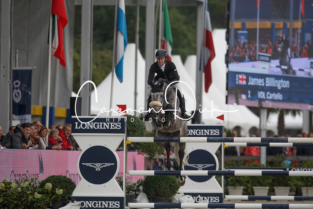 Billington James, (GBR), VDL Cartello<br /> Zangersheide Sires of the World<br /> World Championship Young Jumping Horses - Lanaken 2015<br /> &copy; Hippo Foto - Dirk Caremans<br /> 19/09/15