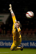 Picture by David Horn/Focus Images Ltd +44 7545 970036.16/10/2012.Ryan Allsop of Leyton Orient watches as a Hartlepool United shot goes wide during the npower League 1 match at the Matchroom Stadium, London.
